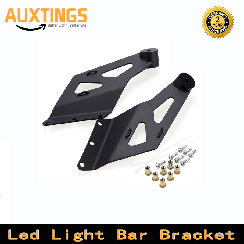 Black Upper Windshield 50 Inch Offroad Curved Led Work Light Bar Holder Mounting Bracket For Toyota Tundra 2007~2014