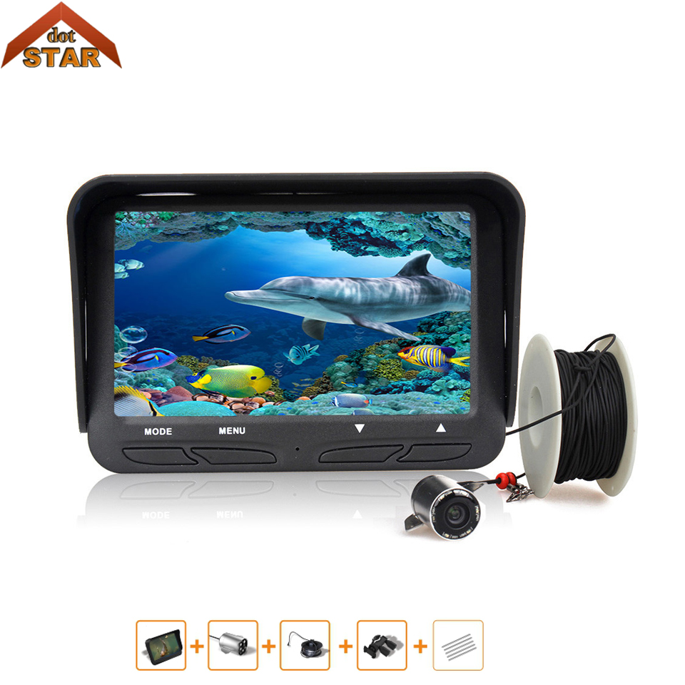 Visible Video Fish Finder Underwater Ice Video 720P HD 30M Fishfinder Fishing Camera IR Night Vision 4.3 inch monitor camera kit 30m underwater fish cameras finder sea real time live underwater ice video fishfinder fishing camera ir night vision 4 3 screen