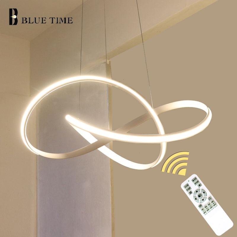 Top vente article blanc noir or moderne Led lustre lumières pour salon chambre Led lustre luminaires AC110V 220 V
