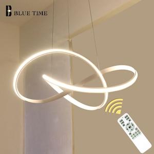 Image 1 - Üst Satış Öğe Beyaz Siyah Altın Modern Led Avize Işıkları Oturma Odası Yatak Odası Için Led Avize Aydınlatma Armatürleri AC110V 220 V