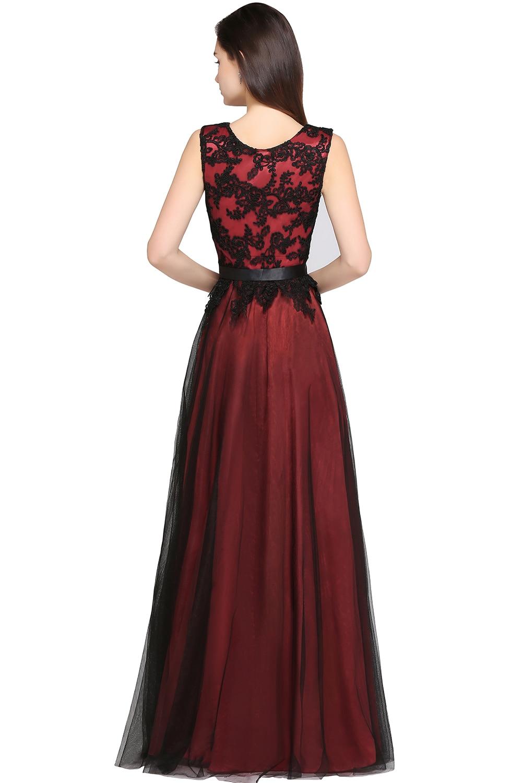 Black Long Mermaid Evening Dresses Klänningar Satin Appliques Lace - Särskilda tillfällen klänningar - Foto 6