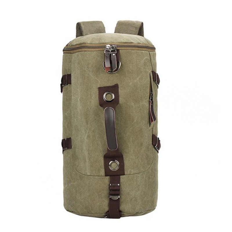 Mochila de moda para hombre, mochila de lona de gran capacidad, bolso de hombro para hombre, mochilas de montañismo, bolsas multifunción