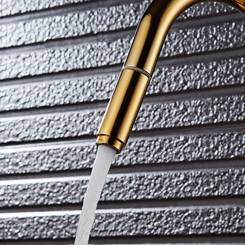 Robinet de cuisine évier de cuisine robinet mitigeur noir pivotant 360 degrés robinet d'eau 2 tuyau eau chaude et froide mélangeur OWO-N22-038 - 5