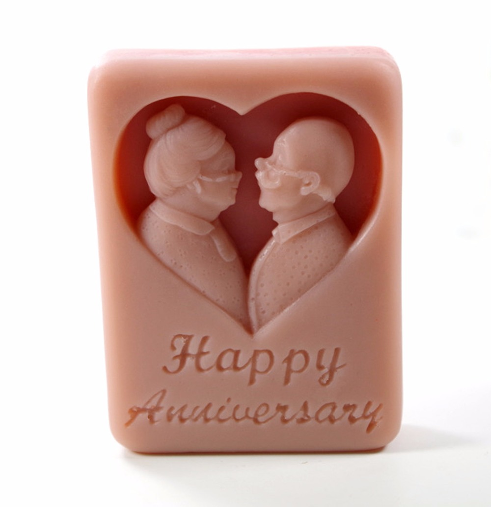old together Mould Craft Art Silicone 3D Soap Mold Craft Molds DIY Handmade Candle Molds S379