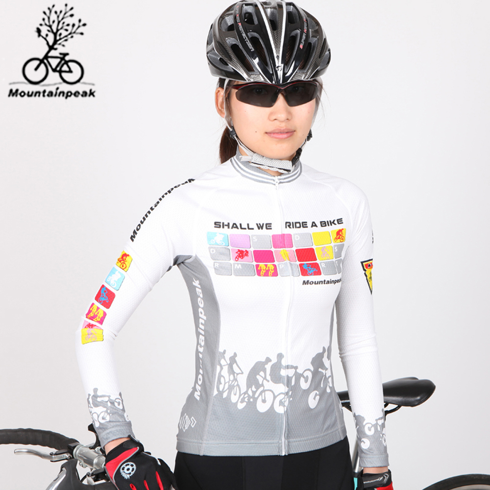 Clearance Cycling Jersey Mountain Bike Windproof Jersey Bicycle Clothing Women Sportswear Long Sleeve Cycling Clothes Skinsuit women s long cycling clothing mountain bike kit reflective cycle jersey