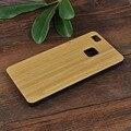 Madera dura de la pc phone case para huawei p9 lite contraportada p9lite Fundas PC + Palo de Rosa de madera De Bambú De Madera de Nogal Shell Cases bolsa