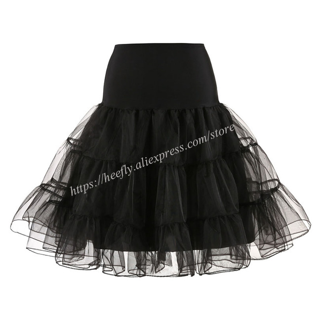 Tulle Skirts Womens Fashion High Waist Pleated Tutu Skirt Retro Vintage Petticoat Crinoline Underskirt Faldas Women Skirt saia 5