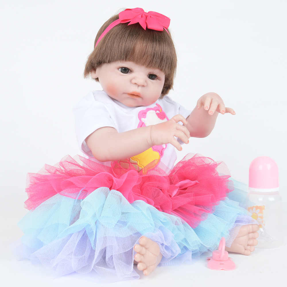 Corpo de silicone completo reborn bebê menino bonecas macio silicone vinil toque suave real bebe recém nascido presente do bebê real para coletor