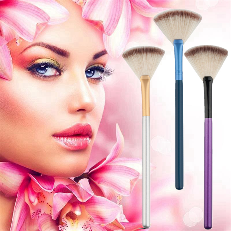 Cosmetic Tools Accessories Fan Shape Makeup Brush Highlighter Face Powder Brush 1 Pcs For Face Make Up