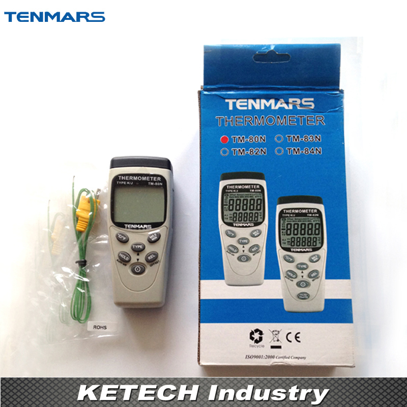 Portable K/J Type Digital Thermometer TM-80N tpi 306c 40 150 pen type digital thermometer