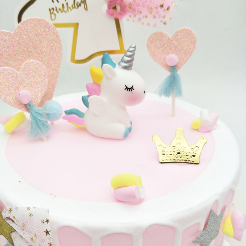 Awe Inspiring Unicorn Party Kid Birthday Cake Topper Unicorn Birthday Ornaments Personalised Birthday Cards Veneteletsinfo
