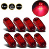 8pcs Car Truck Trailer Red 2LED Lamp 2 5 Oval Clearance Side Marker Light