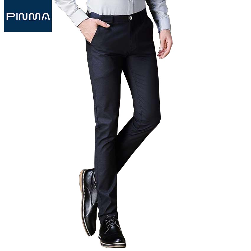 New Design Brand Lounge Pants Men Dress Pants Slim Fit Work Long Male Trousers Lightweight Hight ...