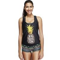 Sexy Pineapple Bikini Tankini Swimwear Women 3 Pieces Swimsuit Bathing Suit Plus Size Swimwear Maillot De