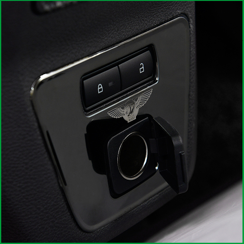 For Ford Escape Kuga 2017 Rear Cigarette Lighter Power Panel Trim Cover Stickers Car styling Auto Interior Accessories