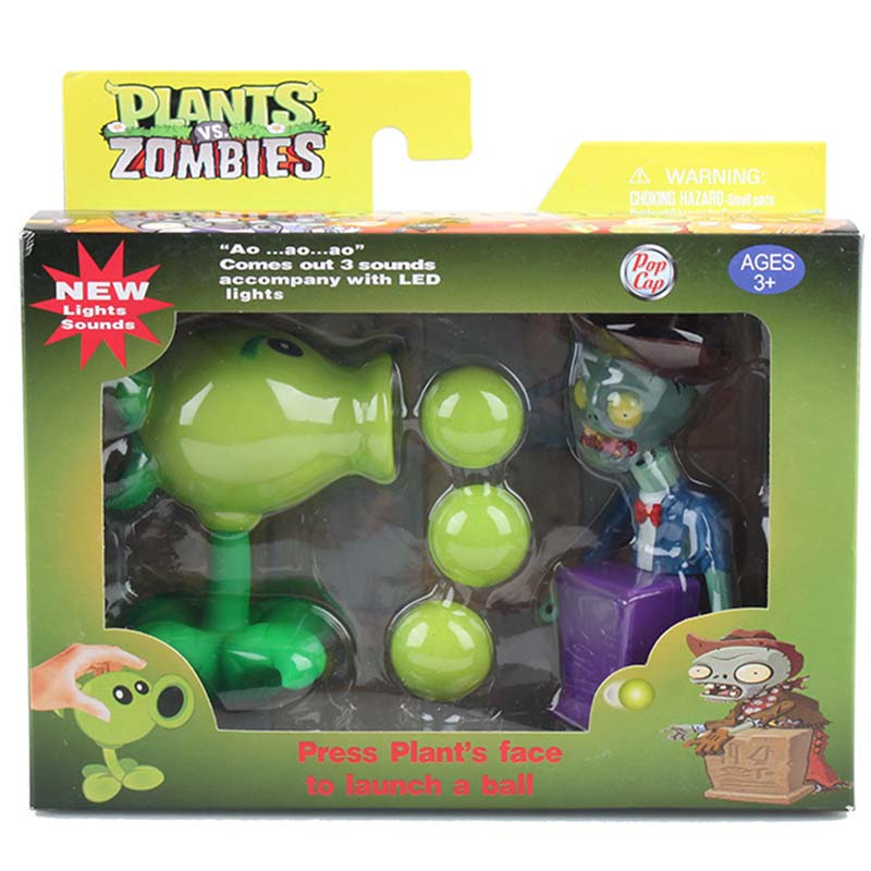Plants vs Zombies figurine Peashooter toys for Kid 2016 New Plants vs Zombies decoration chomper pea sunflower Melon Fire Bullet fray рубашка с длинными рукавами
