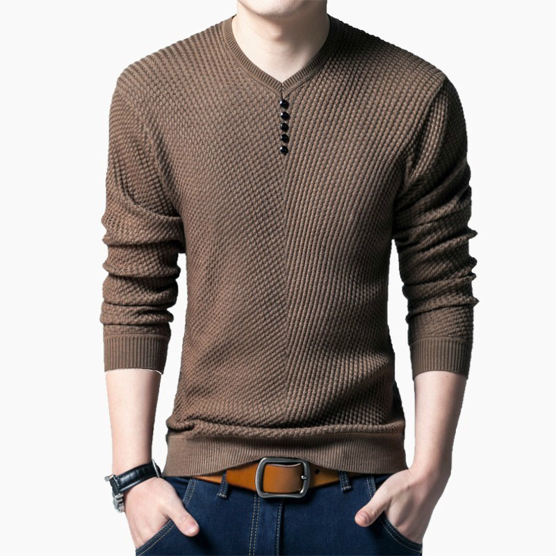 Pullover Sweater Men Casual V-Neck Sweaters Male Autumn Slim Fit Long Sleeve Patchwork Shirt Mens Pull Homme Cashmere Plus Size