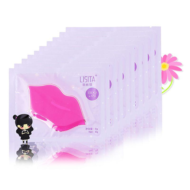 10pcs Collagen Lip Mask Lip Film Moisturizing Exfoliating Lips Care Beauty Essentials Brand New