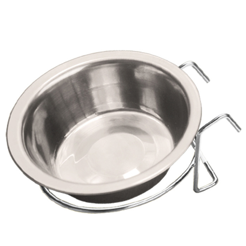 13*8*4 CM Stainless Steel Hanging Pet Cage Bowl Diner Pet Bowl Bird Cat Dog Food Water Bowl with Hanger P10