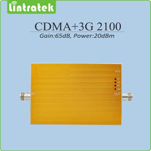 Усиления 65dB Black / Yellow 2 г 3 г мобильной сигнала усилитель CDMA 850 мГц 3 г HSPA UMTS WCDMA 2100 мГц сотовый телефон повторитель сигнала