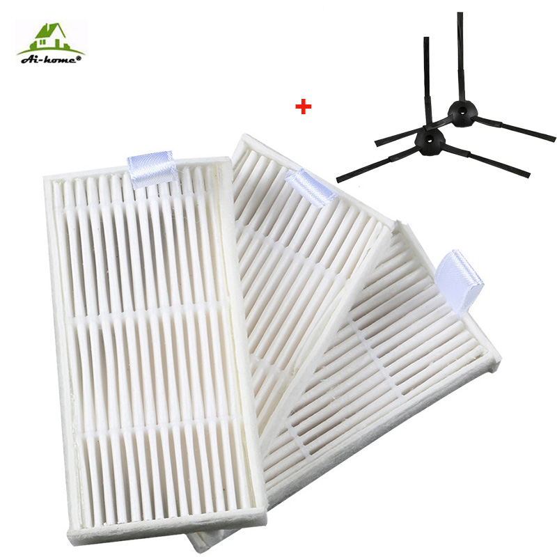 Tireless 3-armed Side Brush Hepa Filter Replacement For Panda X500 Ecovacs Cr120 X600 Hepa Filter Vacuum Cleaner Accessories Filters Neither Too Hard Nor Too Soft Home Appliances Vacuum Cleaner Parts