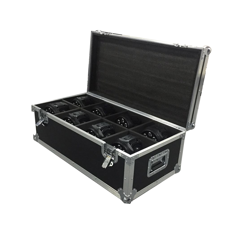 Flight Case with 6/8 pieces LED Wash 7x18W RGBWA+UV Moving Head Lighting for Disco KTV Party Fast Shipping,SHEHDS Stage Light