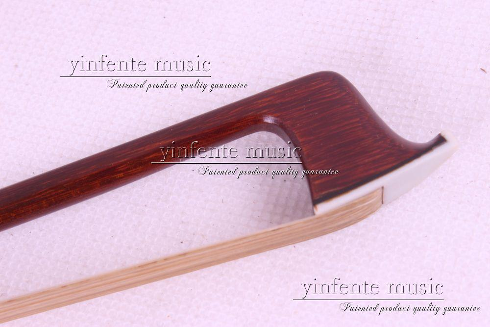 1 pcs  Violin Bow Bone Frog Brazilwood Round Stick New 4/4 33# 1 pcs brazilwood violin bow 4 4 straight best model fr og round stick xd 033