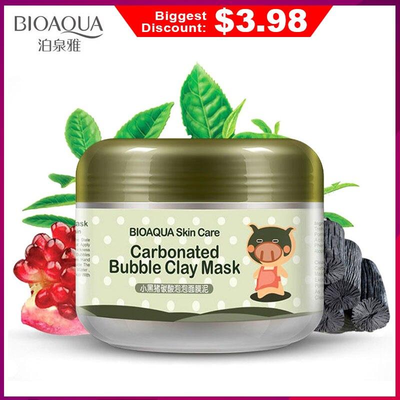 BIOAQUA Skin Care Nutrition Repair Face Cream Carbonated Bubble Clay Dispel the black head Whitening Moisturizing Facial Masks(China)