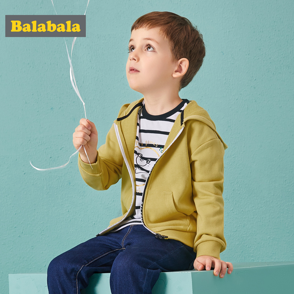 Balabala Boys papery clothes Children Hooded coats Boy Outerwear autunm clothes kids Clothing boys sport coats for toddler boys