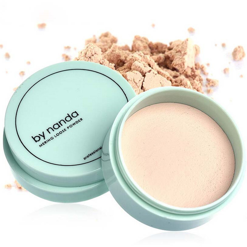3 Color Translucent Pressed Powder with Puff Smooth Face Makeup Foundation Waterproof Loose PowderSkin Finish Setting Powder image