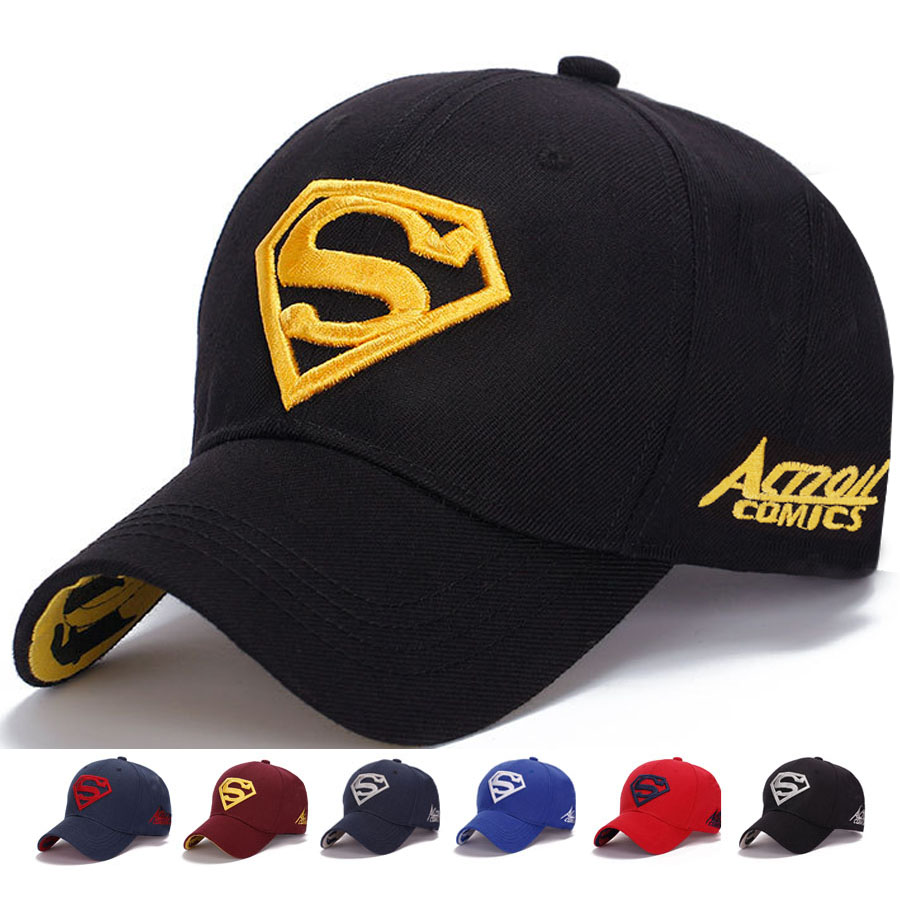 Wholesale 2016 Superman Hot Fitted Baseball Cap Causal Embroidery Outdoor  Sports Canvas Snapback Hats Baseball Cap For Woman-in Baseball Caps from  Apparel ... d02ef90ecd9