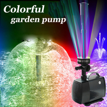 40w 2000l/h Fish Pond Aquarium Led Submersible Water Pump Garden Decoration Fount free shipping garden colorful decoration pump