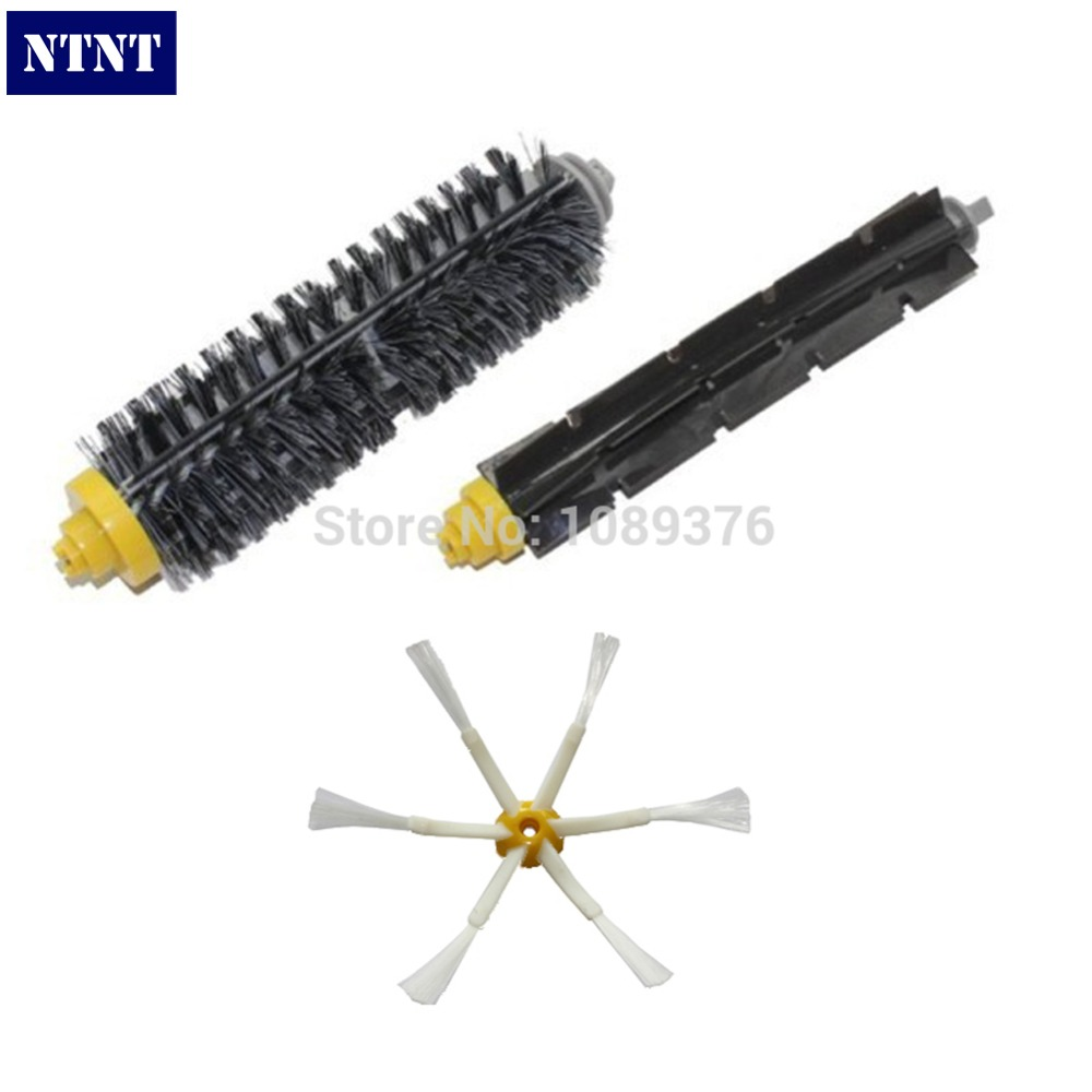 NTNT New Replacement Brush For iRobot Roomba 700 760 770 780 Bristle Brush and Flexible Beater Brush 6 Arms Side Brush black side brush bristle and flexible beater brush combo home appliance parts fit for irobot roomba 700series 760 770 780
