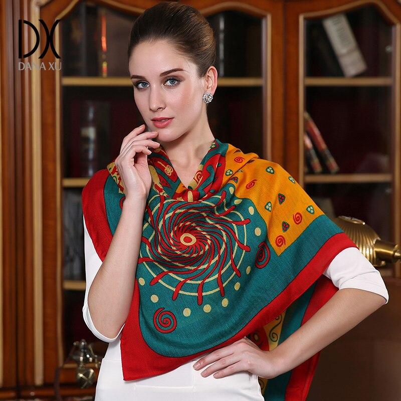 2019 New Fashion Brand Winter Scarf For Women Scarf 125 125cm Large Luxury Women Wool Scarf