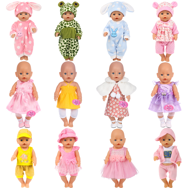 15Colors Girl Clothes Zapf Baby Born Doll Clothes Doll Accessories American Doll Dress Fashion Doll Children Best Gift american girl doll clothes halloween witch dress cosplay costume for 16 18 inches doll alexander dress doll accessories x 68
