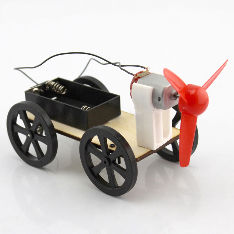 DIY Wind Power Car Handmade Toys Physical Teaching Resources Building Blocks Kits For Kids Early Education Puzzle Assembled Toy