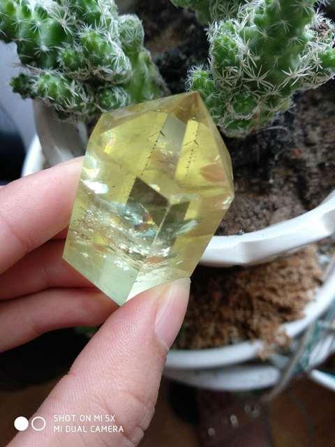 ! Haut!!! Baguette en cristal de quartz citrine naturel | Baguette de guérison comme cadeau 45g