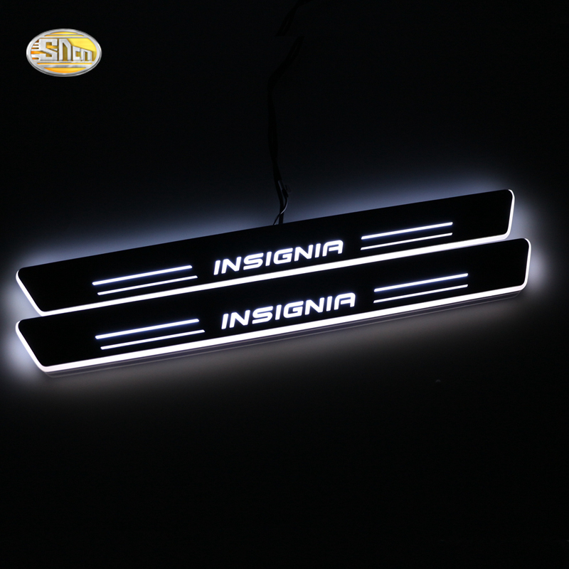 SNCN LED door sill for Opel Vauxhall Insignia 2014 2015 2016 Led moving light door scuff plate welcome pedal light accessories fsylx led door moving scuff welcome pedal door sill plate light for audi q3 2013 2015 white led pedal light for q7 2006 2015