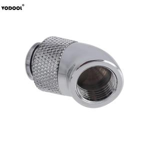 Image 5 - Brass G1/4 Screw Thread 45 Degree Elbow Rotary Brass Adapter Male to Female Connector Fitting Computer PC Water Cooling System