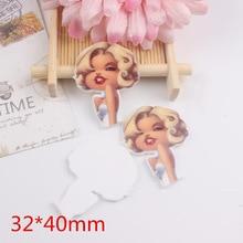 10PCS Mixed Planar Resin Charm Marilyn Monroe For Hair Pin Mobile Phone Case Decoration DIY Handmade Flatback