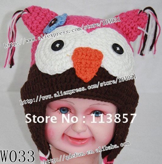 Free Shipping 60lot 60% Cotton Crochet Baby Hatpromotional Hat Delectable Free Owl Hat Knitting Pattern