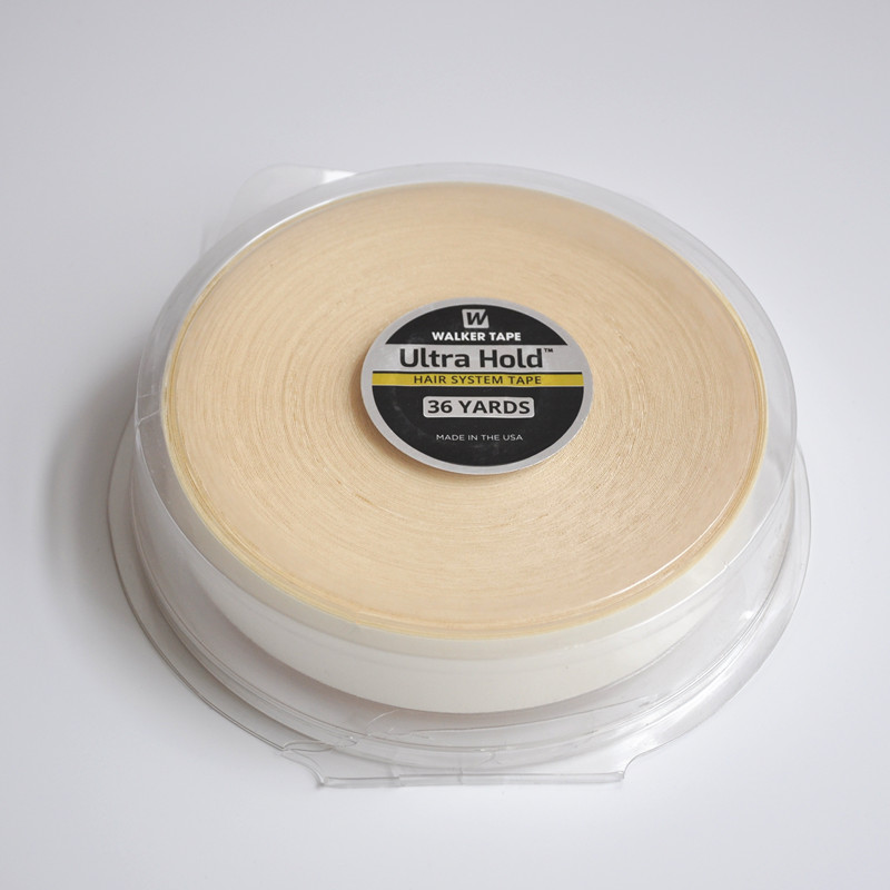 36yards White Ultra Hold Wig Double Sided Waterproof Adhesive Tape For Tape Hair Extension/Man's Toupee/Lace Wig/Closure 3 4 inch 3yard white wig lace front support double sided adhesive tape for hair extension toupee lace wig pu extension