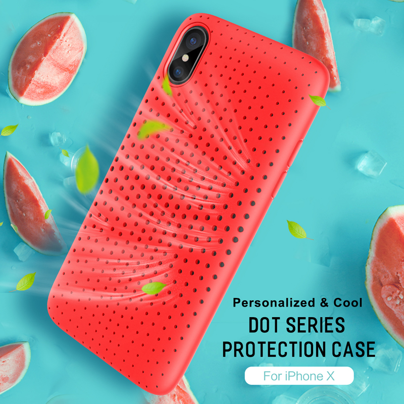 Rock Case for iPhone 7 8 8 Plus breathable Phone case for iPhone X 5.8inch soft fashionable protective back case drop shipping