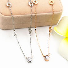 2016 New Brand Design white rhinestone with four circles vintage Pendants & Necklaces Charms chokers women best Christmas gifts