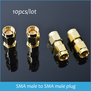 Sindax SMA-JJ Liga de Zinco SMA macho para SMA plugue macho em série RF coaxial conector do adaptador de Ouro 10 pçs/lote