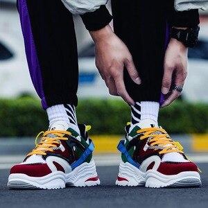 Image 2 - Ayakkabı erkekler 2019 erkek ayakkabı rahat tıknaz moda eğitmenler Tenis Masculino Adulto Chaussure Homme Zapatillas Hombre Deportiva