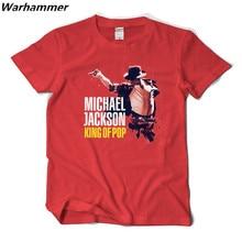 Warhammer Summer Classic Rock Men T shirt Michael Jackson King Of Pop Tee Shirt Homme Cotton O-Neck Short Sleeve Hip Hop T-shirt