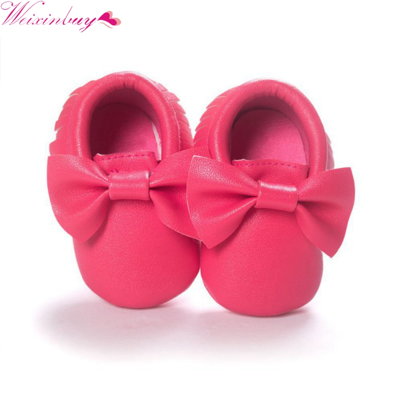 Baby Kids Handmade Fashion Tassels Baby Moccasin Shoes Soft Bottom Infants Crib Shoes PU leather Prewalkers