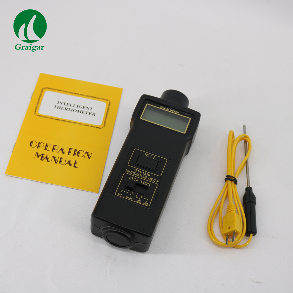 Digital Temperature Meter TM-1310 With Wide measuring range & high resolution optometric economic digital pupillometer cx8 stable quality ce marked accurate measuring pd meter