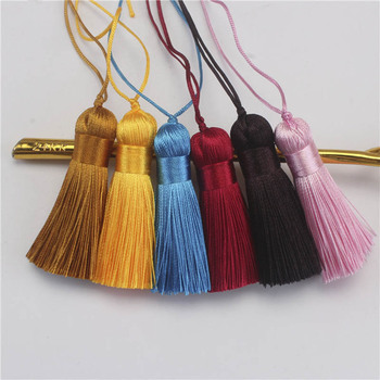 10pcs 5cm Short Tassel Brush 23Color Silk Tassels Pendant Accessories for Diy Jewelry Making Handmade Crafting Findings Supplier